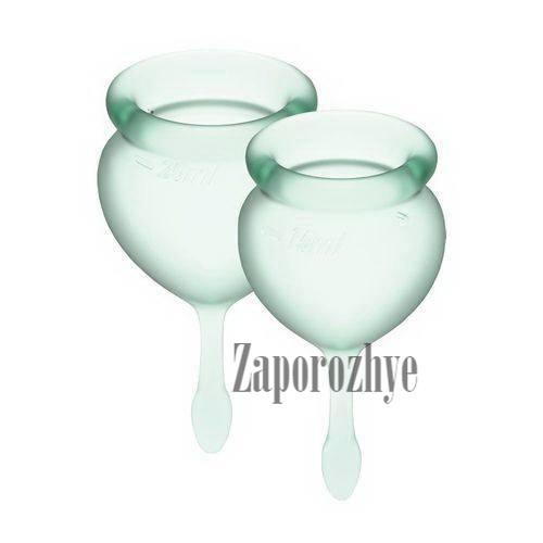Набор менструальных чаш Satisfyer Feel Confident Good light green 15 и 20 мл