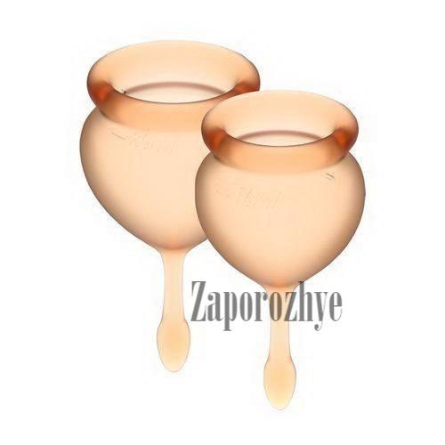 Набор менструальных чаш Satisfyer Feel Confident Good orange 15 и 20 мл