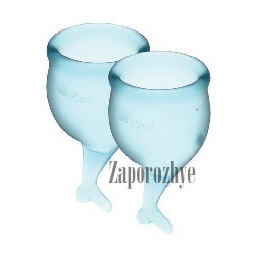 Satisfyer Feel Secure light blue 15 и 20 мл - Набор менструальных чаш
