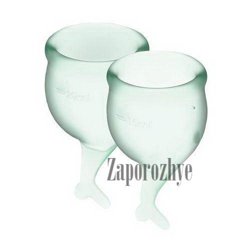Набор менструальных чаш Satisfyer Feel Secure light green 15 и 20 мл