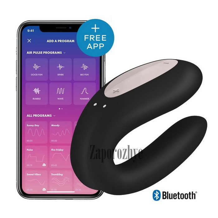 Satisfyer Double Joy Black - Вибратор для пар